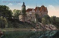 Zamek Czocha - Czocha na pocztówce z okresu międzywojennego