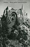 Zamek w Czorsztynie - Ruiny Czorsztyna na pocztówce z 1936 roku