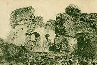 Zamek w Czorsztynie - Ruiny Czorsztyna na zdjęciu Józefa Zajączkowskiego z 1906 roku