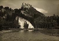 Zamek w Czorsztynie - Czorsztyn na zdjęciu Henryka Poddębskiego z 1922 roku