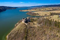 Zamek w Czorsztynie - Zdjęcie lotnicze, fot. ZeroJeden, IV 2021