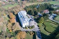 Zamek w Dąbrowicy - Zdjęcie lotnicze, fot. ZeroJeden, X 2018