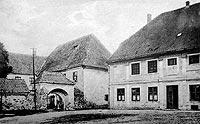 Zamek w Dąbrównie - Zamek w Dąbrównie na fotografii z końca XIX wieku