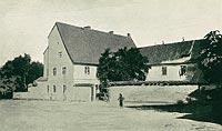 Zamek w Dąbrównie - Zamek na widokówce z 1910 roku