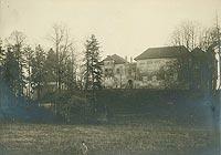 Zamek w Dębnie - Zamek w Dębnie na zdjęciu z około 1900 roku