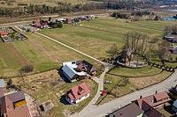 Dwór w Dębnie - Zdjęcie lotnicze, fot. ZeroJeden, IV 2021