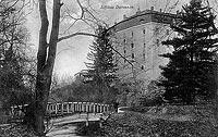 Zamek w Domanicach - Zamek na widokówce z okresu międzywojennego