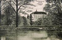 Zamek w Domanicach - Zamek w Domanicach w okresie międzywojennym