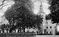 Zamek w Domanicach - Zamek na widokówce z 1918 roku