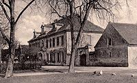 Zamek w Drezdenku - Pałac twierdzy bastionowej na widokówce z początków XX wieku