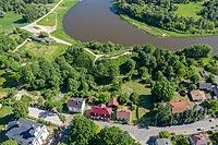 Zamek w Drohiczynie - Zdjęcie z lotu ptaka, fot. ZeroJeden, VI 2019