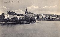 Zamek w Ełku - Zamek na widokówce z okresu międzywojennego