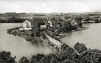 Zamek w Ełku - Zamek na pocztówce z 1936 roku