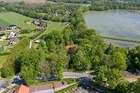 Dwór w Gierałtowicach - Zdjęcie z lotu ptaka, fot. ZeroJeden, V 2020