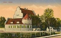 Zamek w Giżycku - Zamek na widokówce z 1929 roku