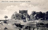 Zamek w Giżycku - Zamek w Giżycku na zdjęciu z początków XX wieku