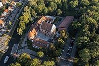 Zamek w Giżycku - Zdjęcie lotnicze, fot. ZeroJeden, IX 2021