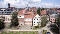 Zamek w Gliwicach - Widok z lotu ptaka, fot. ZeroJeden, VII 2018