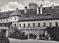 Zamek w Głogówku - Zamek w Głogówku na pocztówce z lat 20. XX wieku