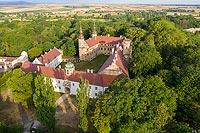 Zamek w Głogówku - Zdjęcie lotnicze, fot. ZeroJeden, VII 2019