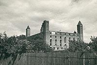 Gniew - Zamek w Gniewie na zdjęciu z lat 30. XX wieku