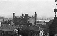Gniew - Zamek w Gniewie na zdjęciu z lat 1921-1939