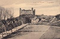 Zamek w Golubiu-Dobrzyniu - Zamek w Golubiu na pocztówce z około 1918 roku