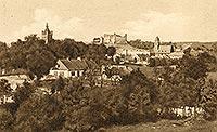 Zamek w Golubiu-Dobrzyniu - Golub-Dobrzyń na pocztówce z okresu międzywojennego