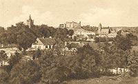 Zamek w Golubiu-Dobrzyniu - Zamek w Golubiu na pocztówce z 1914 roku