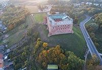 Zamek w Golubiu-Dobrzyniu - Zdjęcie lotnicze, fot. ZeroJeden, X 2018