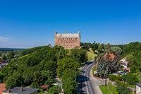 Zamek w Golubiu-Dobrzyniu - Zdjęcie lotnicze, fot. ZeroJeden, VII 2020