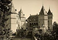 Zamek w Gołuchowie - Zamek w Gołuchowie na zdjęciu Henryka Poddębskiego z 1932 roku