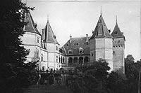 Gołuchów - Zamek w Gołuchowie na zdjęciu z lat 1918-27