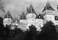 Zamek w Gołuchowie - Zamek w Gołuchowie na zdjęciu z lat 1918-27