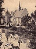 Zamek w Sobótce-Górce - Zamek w Górce na pocztówce z 1909 roku