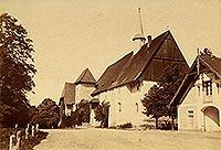 Zamek w Sobótce-Górce - Zamek w Górce na zdjęciu z 1885 roku
