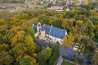 Zamek w Sobótce-Górce - Zdjęcie lotnicze, fot. ZeroJeden, X 2019