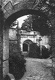 Zamek w Gorzanowie - Zamek w Gorzanowie na zdjęciu z okresu międzywojennego