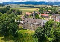 Zamek w Gorzanowie - Zdjęcie lotnicze, fot. ZeroJeden, VII 2019