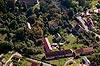 Zamek w Gościszowie - Widok z lotu ptaka od północnego-zachodu, fot. ZeroJeden, X 2013