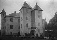 Grodziec - Zamek w Grodźcu na zdjęciu z okresu międzywojennego