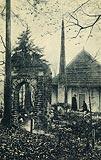 Zamek w Grodzisku - Pustelnia błogosławionej Salomei na Grodzisku na pocztówce z około 1923 roku