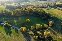 Zamek w Grodziszczu - Zamek na zdjęciu lotniczym, fot. ZeroJeden, X 2020