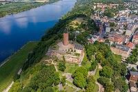 Zamek w Grudziądzu - Zdjęcie lotnicze, fot. ZeroJeden, VII 2020