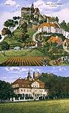 Zamek Gryf w Proszówce - Zamek Gryf na widokówce z początków XX wieku
