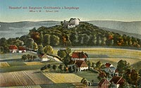 Zamek Gryf w Proszówce - Zamek Gryf na pocztówce z początków XX wieku