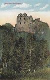 Zamek Gryf w Proszówce - Ruiny zamku Gryf na pocztówce z około 1920 roku