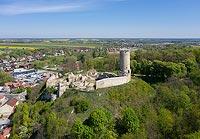 Zamek w Iłży - Widok z lotu ptaka, fot. ZeroJeden, V 2020