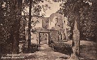 Zamek Bolczów w Janowicach Wielkich - Zamek Bolczów w 1922 roku