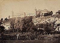 Zamek w Janowcu - Zamek w Janowcu na zdjęciu Leonarda Witkowskiego z lat 1867-1890